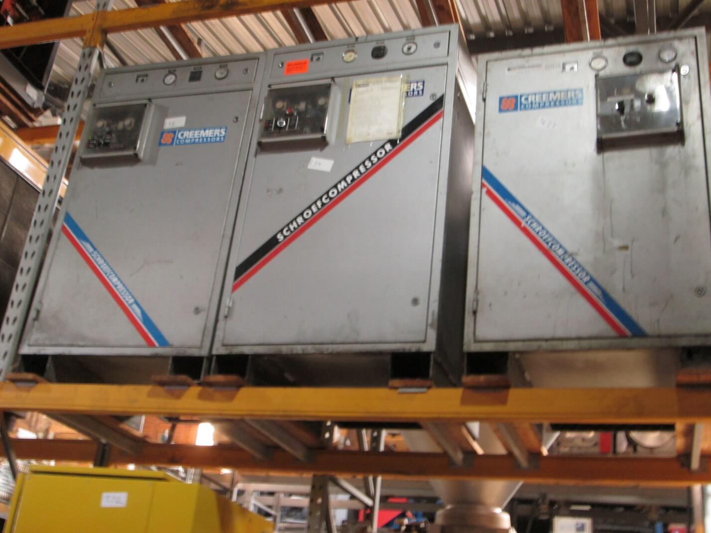 13  CREEMERS, Screw Compressor, RCC18 5, 18 5kW, 103 cfm, 8
