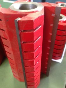 Straight Cutter Blocks, TCT tips, RED Image
